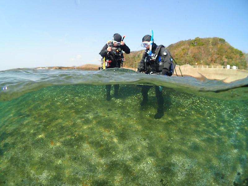ダイビングで重要な水面手順